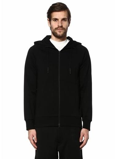 Y-3 Fermuarlı Kapüşonlu Sweatshirt Siyah